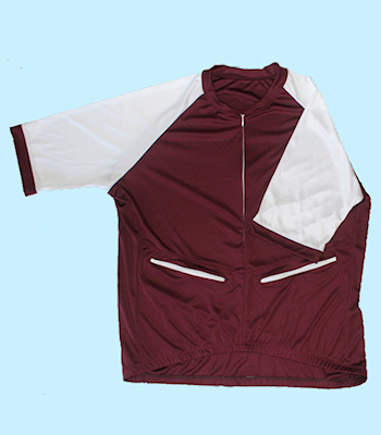 SS Burgundy body, White Sleeve