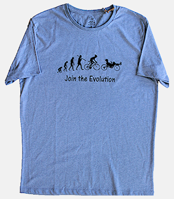 Evolution Blue Bike T-Shirt